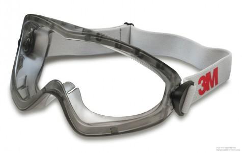 Очки защитные 3М закрытые 2890А с вентиляцией линзы ацетат