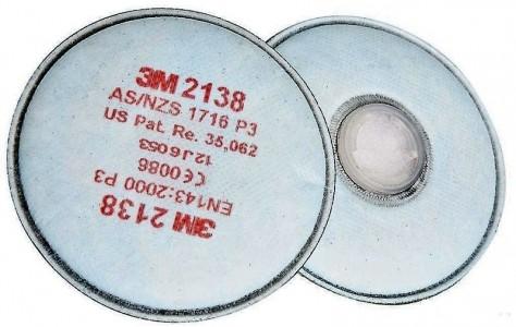 3M 2138 Противоаэрозольный Фильтр Р3 с дополнительной защитой от запахов