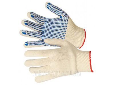 Перчатки хб с ПВХ 3 нити 7,5 класс 30 гр