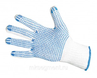 Перчатки хб с ПВХ 5 нитей 7,5 класс 50 гр