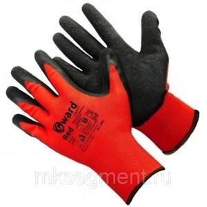 Перчатки нейлоновые с черным текстурированным латексным покрытием