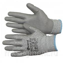 Перчатки противопорезные с полиуретановым покрытием