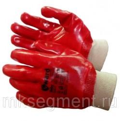 Перчатки МБС с ПВХ покрытием с манжетом-резинкой