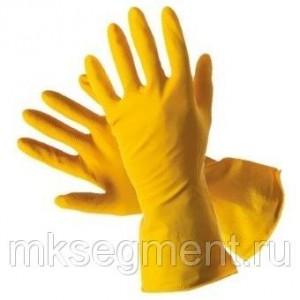 Перчатки латексные прочные хозяйственные