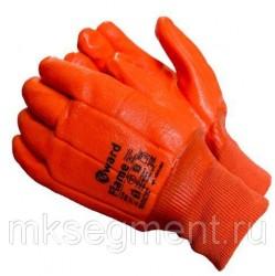 Перчатки трикотажные утепленные с МБС покрытием резинка