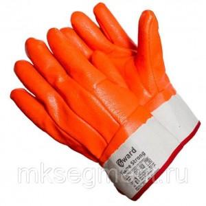 Перчатки трикотажные утепленные с МБС покрытием крага