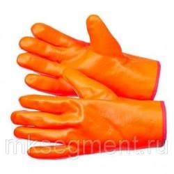 Перчатки трикотажные утепленные с МБС покрытием цельнозалитые