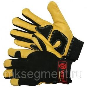 Перчатки антивибрационные виброзащитные эргономичные кожаные