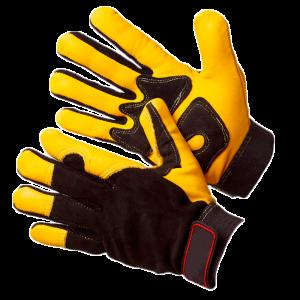 Перчатки антивибрационные кожаные