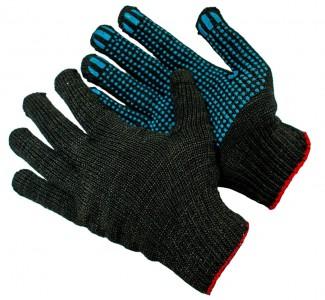 Перчатки трикотажные полушерстяные с ПВХ