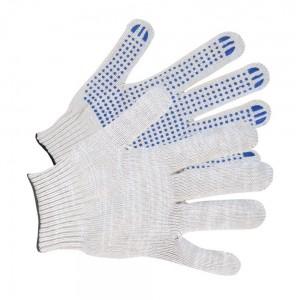 Перчатки трикотажные с ПВХ покрытием 4 нити 10 класс