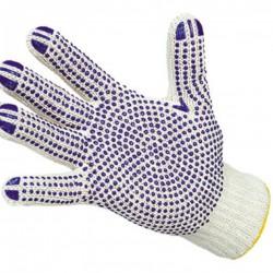 Перчатки трикотажные с покрытием ПВХ 6-нитей 10-классЛЮКС